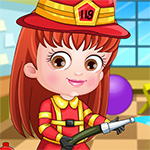 Baby Hazel Firefighter Dressup Game