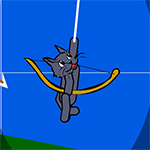 Cat With Bow Golf Game
