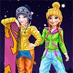 Elsa And Anna Winter Vacation Game