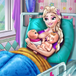 Elsa Mommy Twins Birth Game