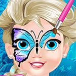 Baby Elsa Butterfly Face Art Game