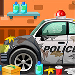 Clean Up Police Car Game