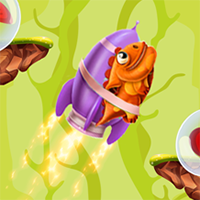 Lizard Rocket Game