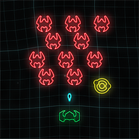 Neon Invaders Game
