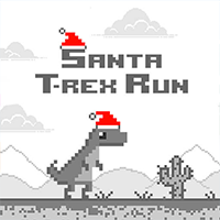 Santa T-Rex Run Game